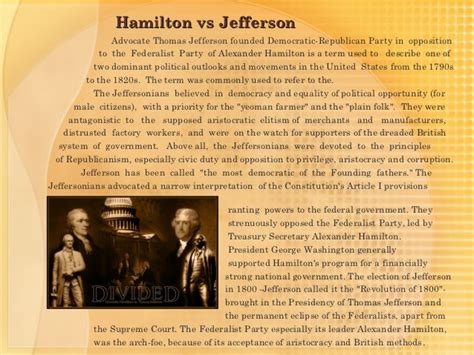 Hamilton Essay by Hamilton Vs Jefferson Essay Essaywriterslogin Web Fc2