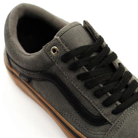 Vans Skool Black Grey vans skool pro grey black gum forty two skateboard shop