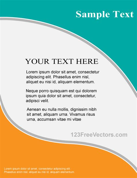 Vector Flyer Design Template 123freevectors Free Brochure Design Templates