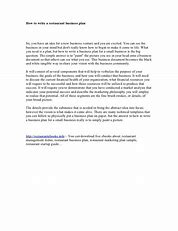 Image result for how to write up a business plan for a restaurant