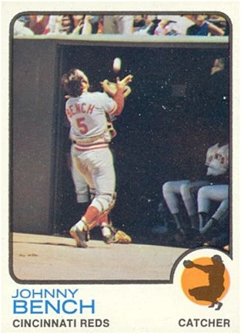 johnny bench baseball card value 1973 topps johnny bench 380 baseball card value price guide