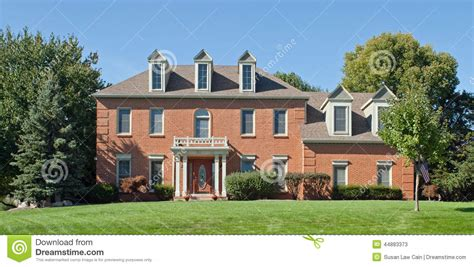 midwest house styles colonial house stock photo image 44883373