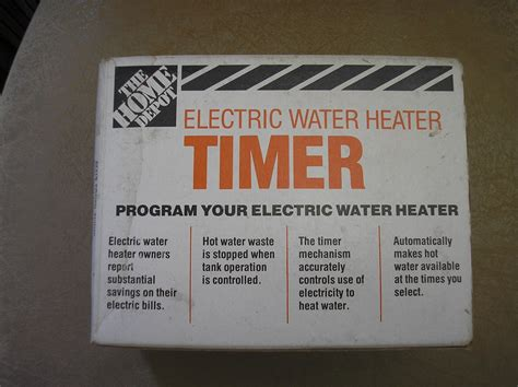 home depot 24 hour electrical water heater timer save up