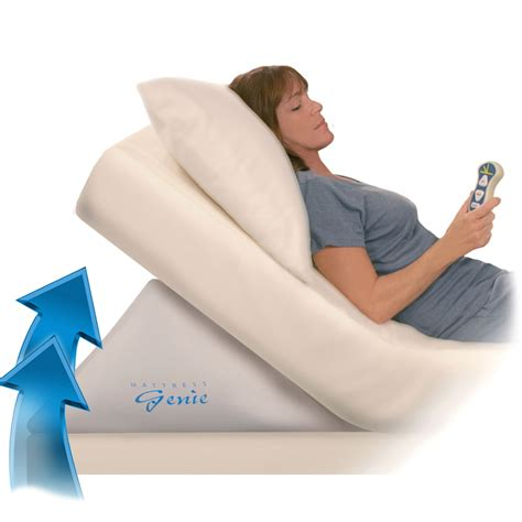 inflatable bed wedge pillow mattress genie adjustable incline bed wedge the green head