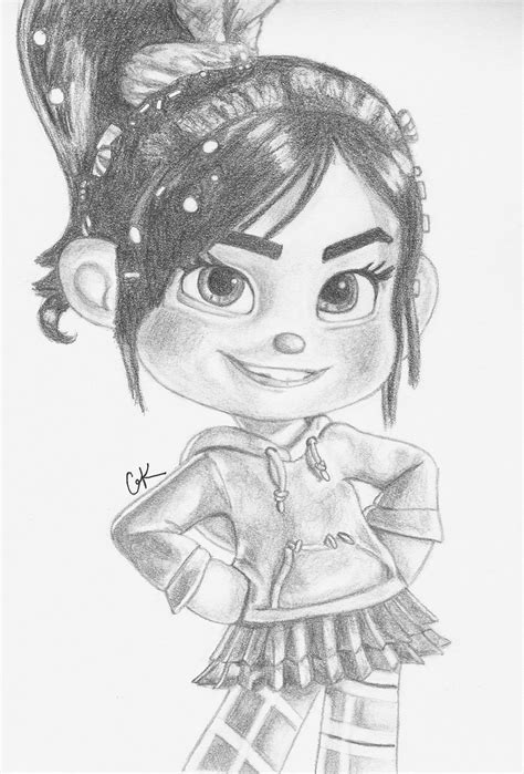 vanellope wreck it ralph fan art 34678403 fanpop