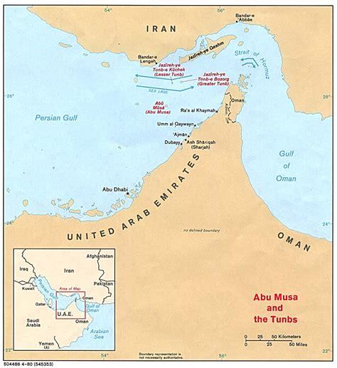 strait of map strait of hormuz 1980 size