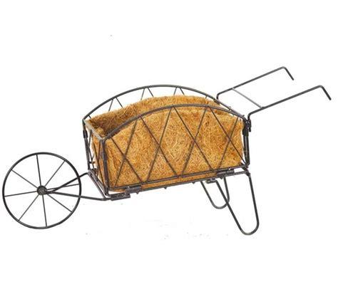 decorative wheelbarrow garden planter by garden selections