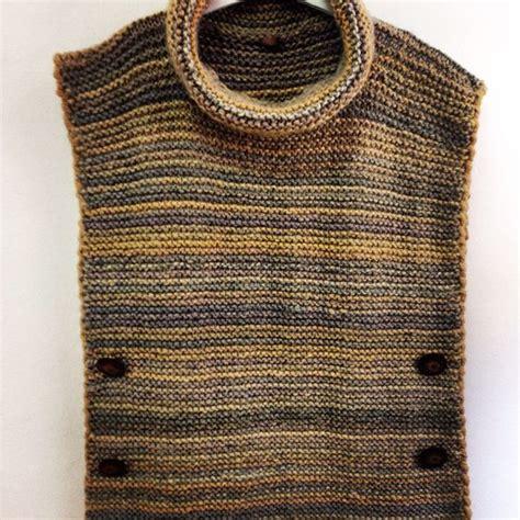 como tejer poncho con mangas a dos agujas poncho de cuello alto y desbocado tejido con lana merino