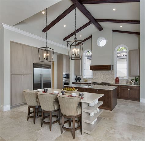 kitchen lighting ideas vaulted ceiling classic modern minimalist vaulted ceiling kitchen lighting with built in wall cabinets and