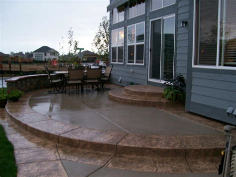 amazing concrete patio by j s custom concrete patios masonry flagstone