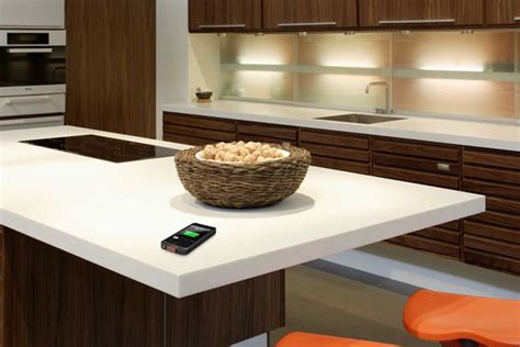 smart countertop dupont corian solid surfaces will offer wireless charging