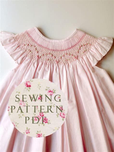 1 year baby dress pattern the charming bishop dress 1 year sewing pdf pattern