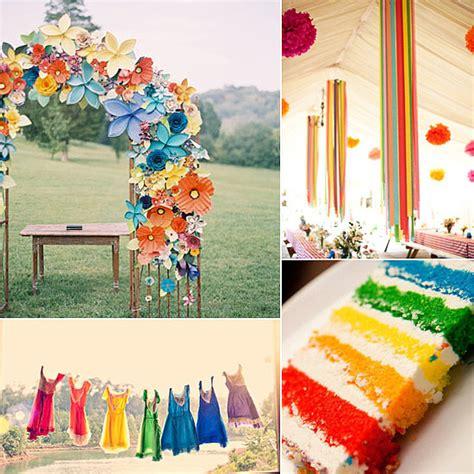 rainbow themed wedding decorations beautiful rainbow decoration ideas for wedding