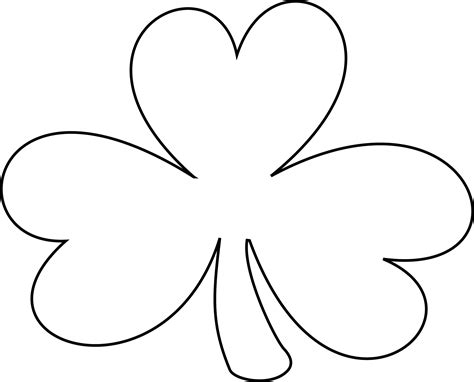 shamrock art coloring page free clipart of a black and white lineart coloring page