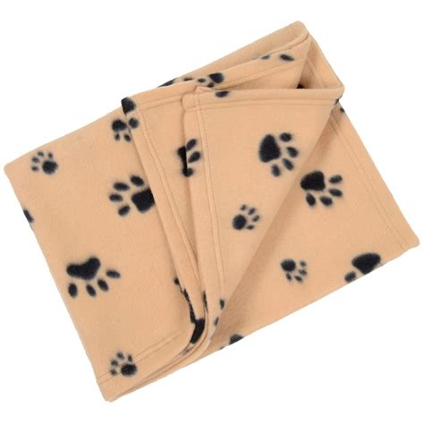 puppy blanket small soft fleece paw print home car cat animal pet blanket mat 80 x 120cm ebay