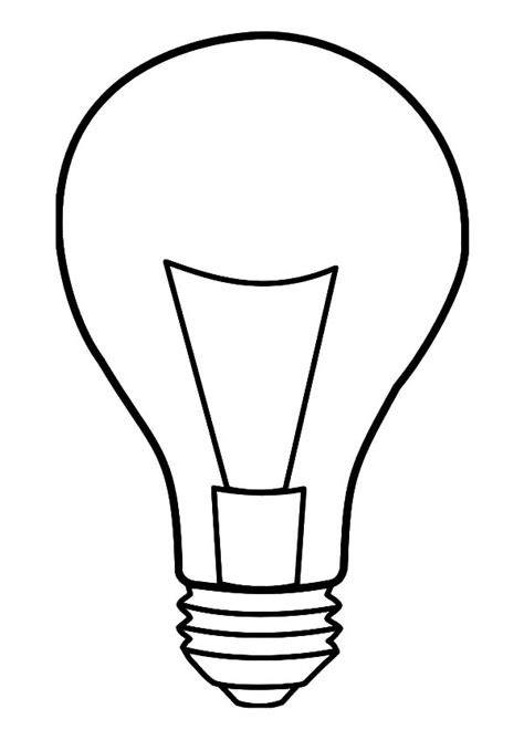 Light Coloring Page light bulb coloring pages clipart best