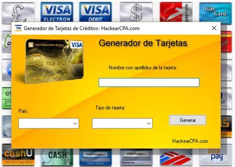 generador de tarjetas de credito 2016 generador de tarjetas de credito con codigo de seguridad