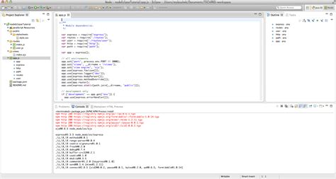 tutorial javascript in eclipse how to setup node js project in eclipse kogonuso