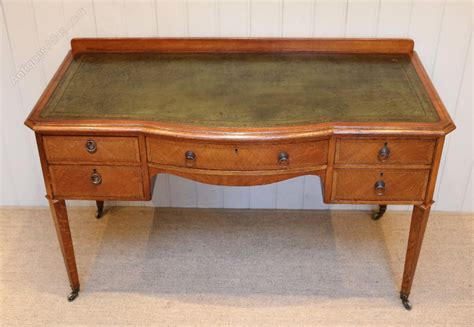 leather top writing desk oak leather top writing desk antiques atlas