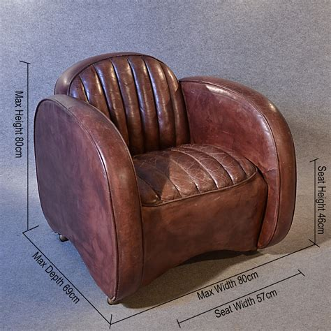 Club Armchair Leather by Antiques Atlas Deco Leather Armchair Vintage Club