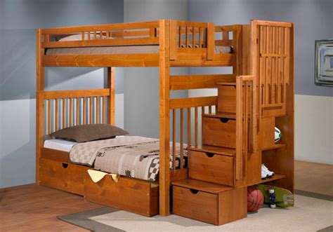 wood bunk beds with stairs wood bunk beds with stairs