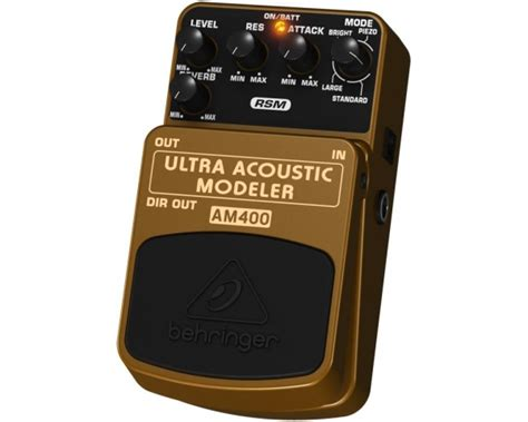 Behringer Guitar Stompboxes Ultra Acoustic Modeler Am400 behringer am400 ultra acoustic modeler pedale simulatore chitarra acustica suonostore