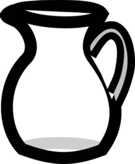 Teko Air Hello Putih empty water pitcher clip at clker vector clip