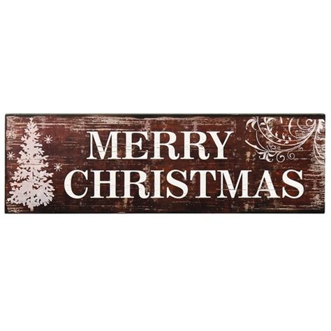 adeco decorative wood wall hanging sign plaque quot merry