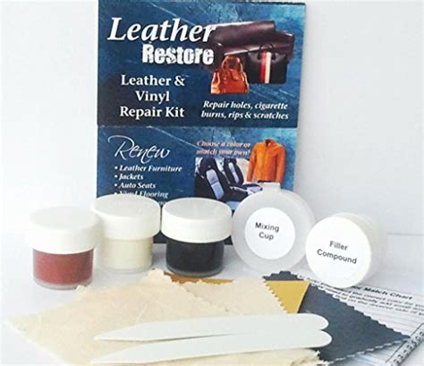 leather restore air leather and vinyl repair kit fixes