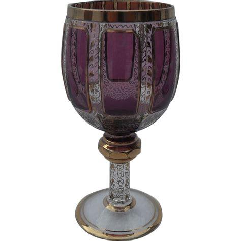 heavy wine glasses heavy moser bohemian amethyst wine glass misssmithvt