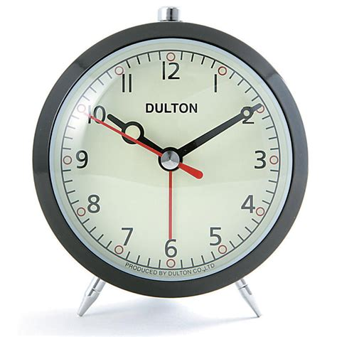 clock buy buy dulton alarm clock black online purely wall clocks