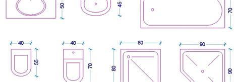 dimensionamento bagni le misure dell uomo nell abitazione il bagno web architetto