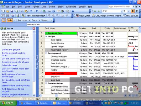 Microsoft Project 2007 ရ တ နည ပည microsoft office project professional 2007