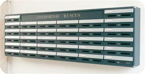 cassette lettere incasso casellari postali per esterno protetti da tettoie pensiline
