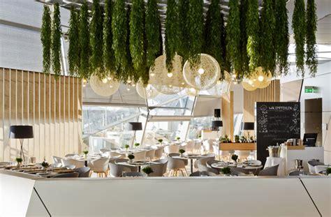 Garden Ceiling by Restaurant Decor With Green Spirit Interiorzine