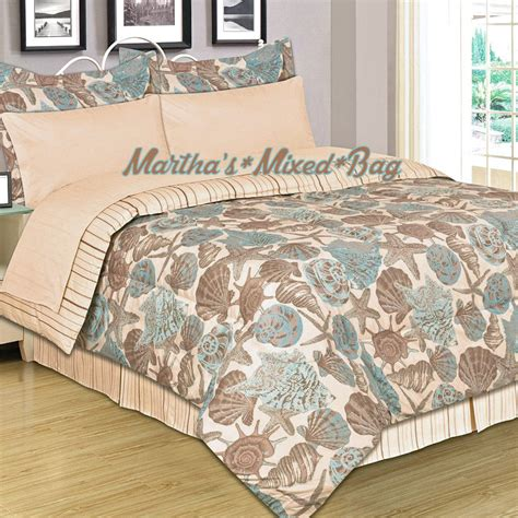 Coastal Bedding Set by Seashells Starfish Coastal Nautical Shoreline