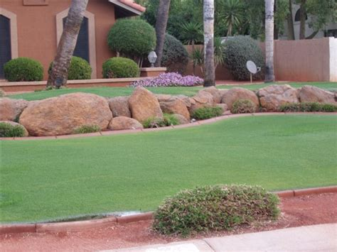 Decorative Yard Rocks Rock Landscaping Ideas Plushemisphere