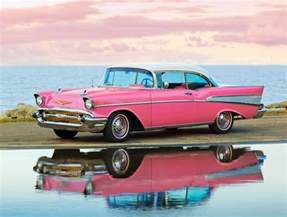 pink white 57 chevy bel air the color quot pink quot is