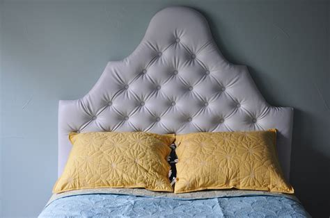 made tufted headboard living with punks