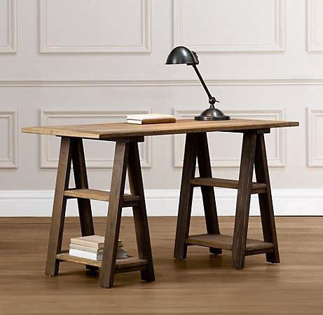 Diy Trestle Desk Sawhorse Trestle Desk Diy Pinterest