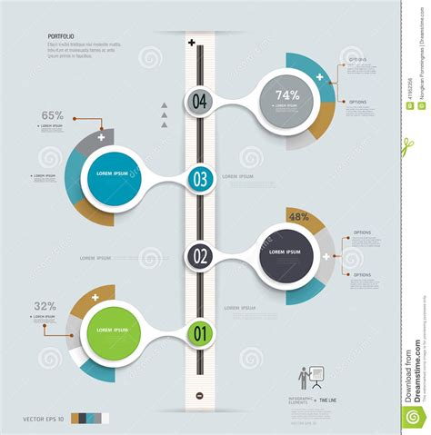 workflow layout infographics timeline can be used for web design and