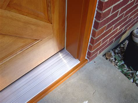 How To Install A Threshold For An Exterior Door Homeofficedecoration Exterior Door Threshold Installation