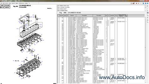 daewoo doosan infracore linkone 2010 parts catalog order