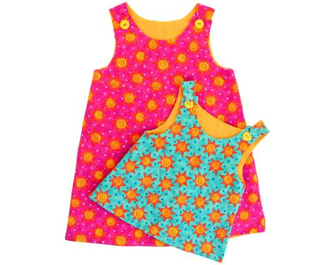 pattern pinafore dress girls reversible pinafore dress pdf pattern in 2 sizes