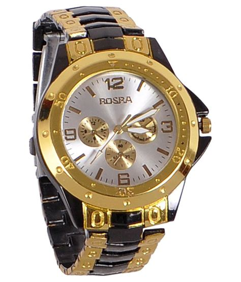 rosra golden black analog price in india buy rosra