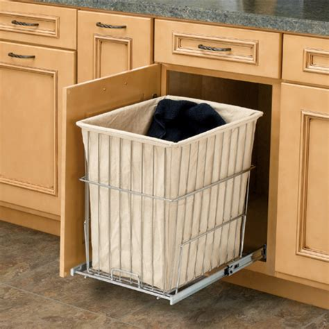 Stainless Outdoor Kitchen Cabinets by Rev A Shelf Pull Out Chrome Wire Hamper With Liner For