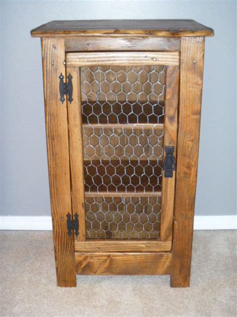 Chicken Wire Cabinets by Rustic Pallet Cabinet With Chicken Wire Door Rustic