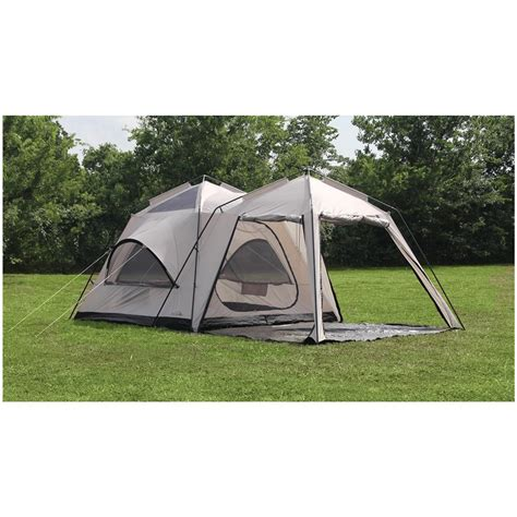 tent room texsport 174 peaks 2 room screen tent glacier gray black 293824 cabin tents at