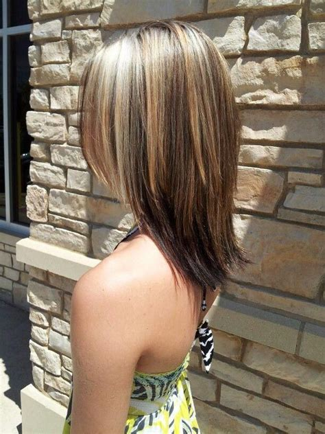 medium hairstyles with partial highlights medium length hair cut with partial blonde highlights i