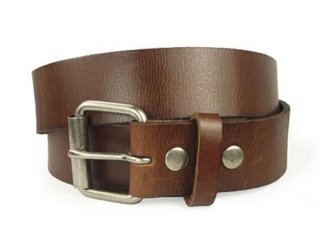 tanned top grain genuine vintage leather belt sunway